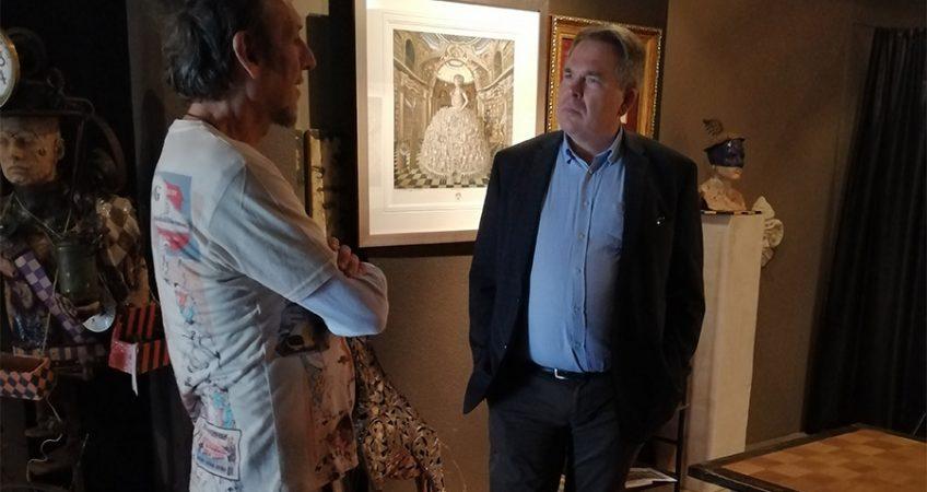 Prezes Sunningwell International Polska Marek Frydrych odwiedził pracownię Tomasza Sętowskiego