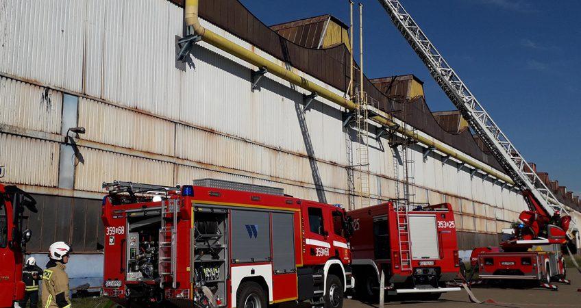 Ćwiczenia strażackie w Hucie Częstochowa