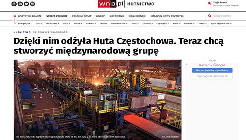 Dzięki nim odżyła Huta Częstochowa. Teraz chcą stworzyć międzynarodową grupę.