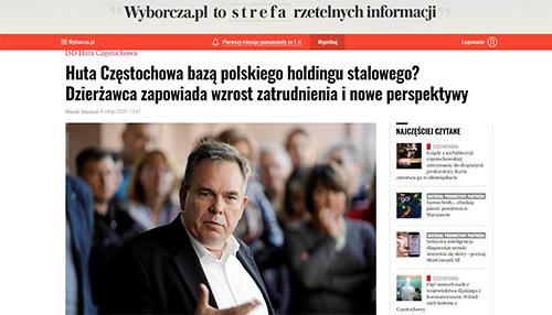 Huta Częstochowa bazą polskiego holdingu stalowego