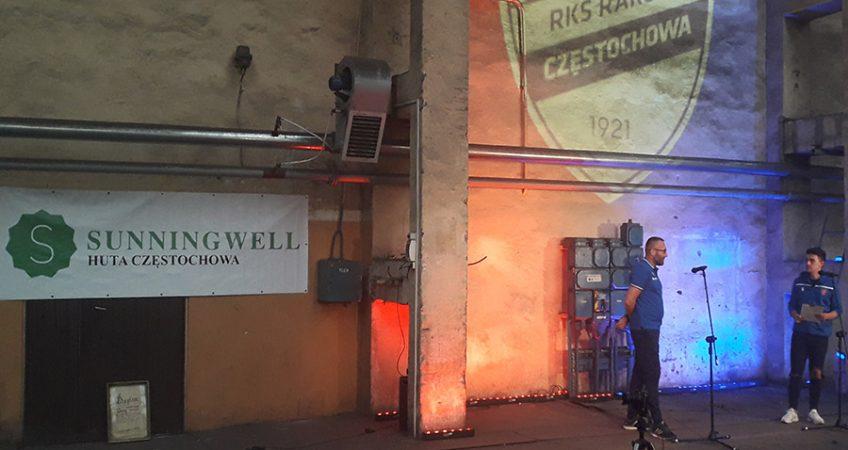 Prezentacja piłkarzy Rakowa w hali Huty Częstochowa